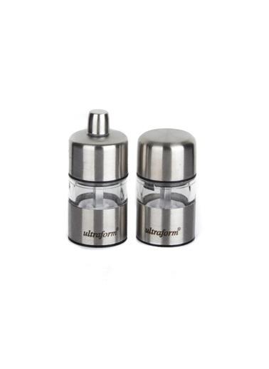 Ultraform Metal Karabiber ve Tuz Değirmen Seti 7 Cm Renkli